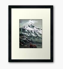 Panoramic View Of Mountain Everest Framed Print