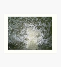 rushing water Art Print