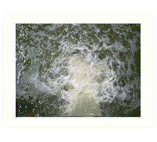 rushing water Art Print