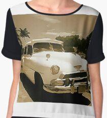 Classic Old Cadillac in Cuba Chiffon Top