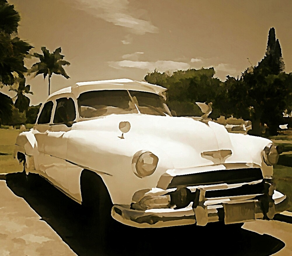 Classic Old Cadillac in Cuba by Johnhalifax