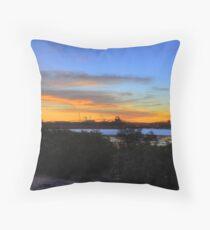 Downtown Port Hedland Sunset Throw Pillow