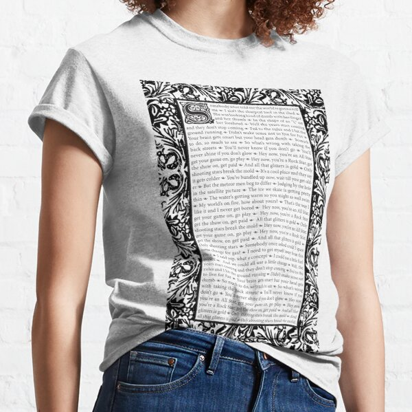 All Star by Smash Mouth - William Morris Inspired Classic T-Shirt