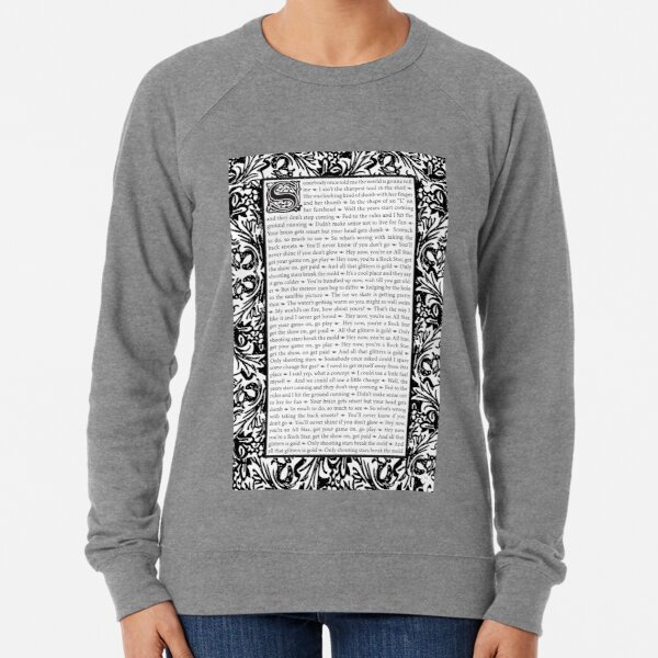 All Star by Smash Mouth - William Morris Inspired Lightweight Sweatshirt