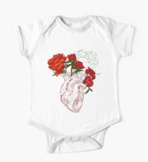 drawing Human heart with flowers One Piece - Short Sleeve