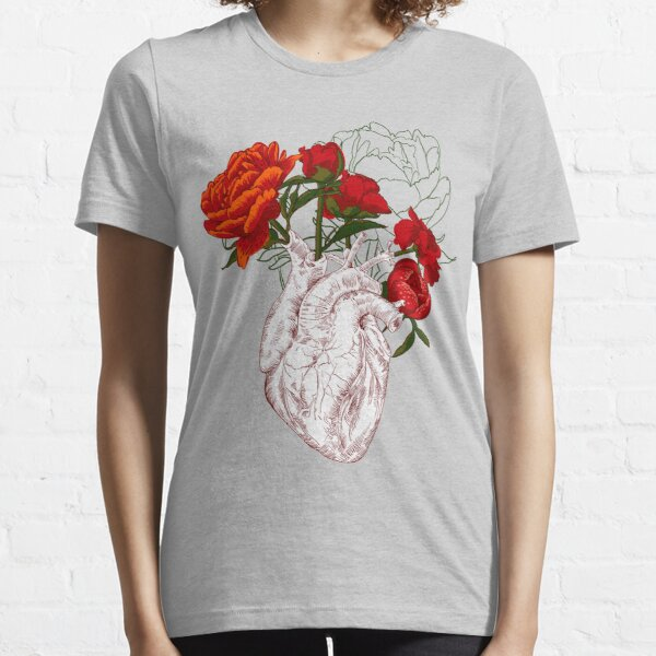 drawing Human heart with flowers Essential T-Shirt