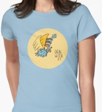 Deal With It Illustration Womens Fitted T-Shirt