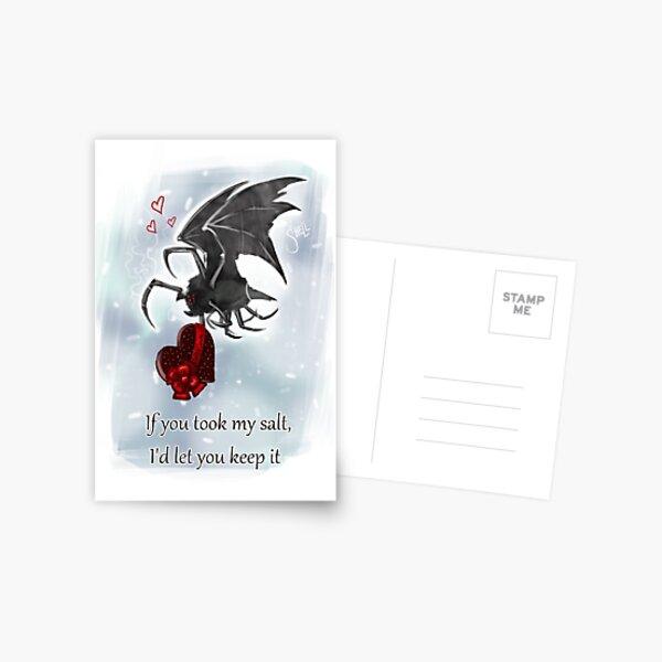 Salt Bat Valentine's Card Postcard
