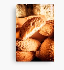 Butter shortbread biscuits Canvas Print