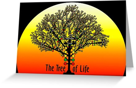 The Tree Of Life Drag Racing Greeting Cards By Alienxpres51