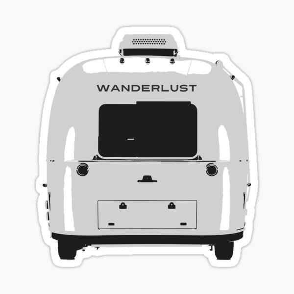 Wanderlust Airstream Trailer Sticker