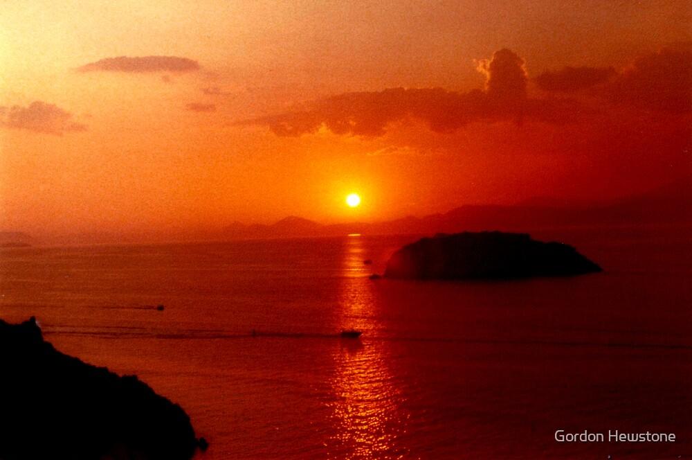 Hydra Sunset by Gordon Hewstone