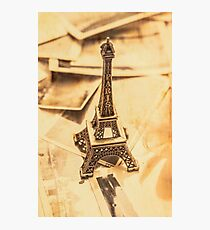 Holiday nostalgia in vintage France Photographic Print