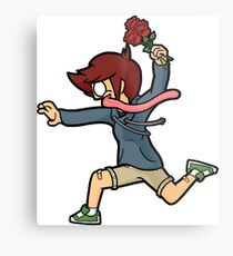 Kid Running 2 - Cartoon Drawing Metal Print