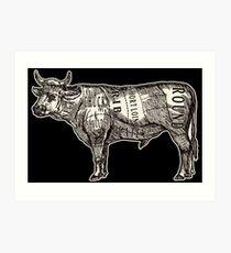 Butcher Chart: Cow Edition Art Print
