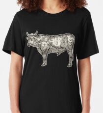 Butcher Chart: Cow Edition Slim Fit T-Shirt