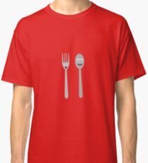 Spoon and Fork Kawaii Classic T-Shirt