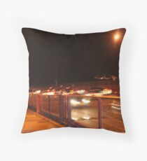 GoldenGate Bridge Night Life Throw Pillow