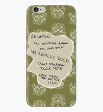 Beware the Weeping Angel iPhone Case