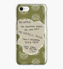 Beware the Weeping Angel iPhone Case/Skin