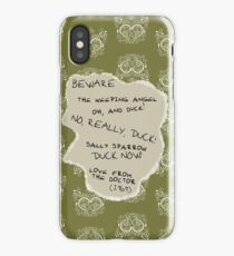 Beware the Weeping Angel iPhone Case