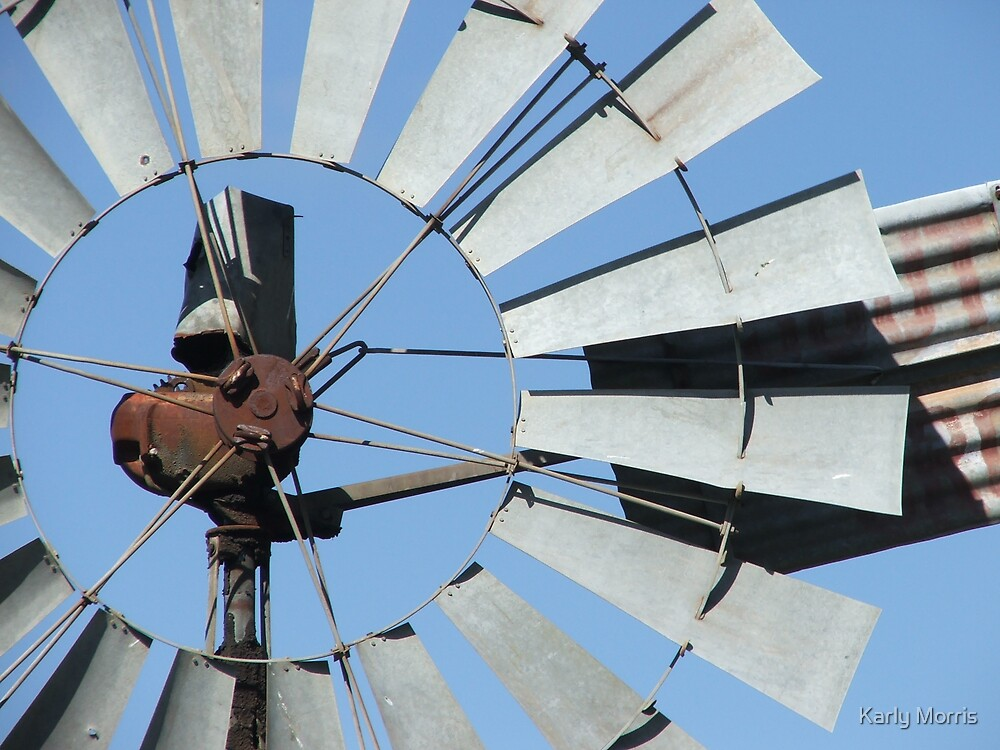 Blue Skies Windmill  by Karly Morris