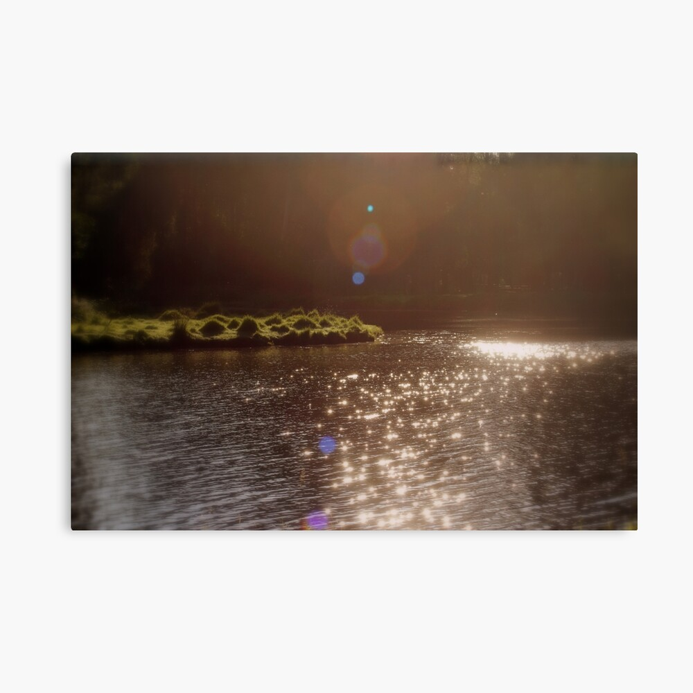 view across Trojan pond, near Goble, Oregon with flare 3 Canvas Print