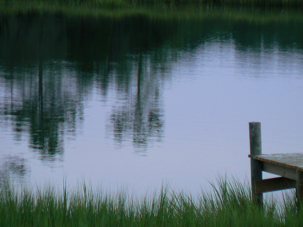 Dock at evening by Kayak1