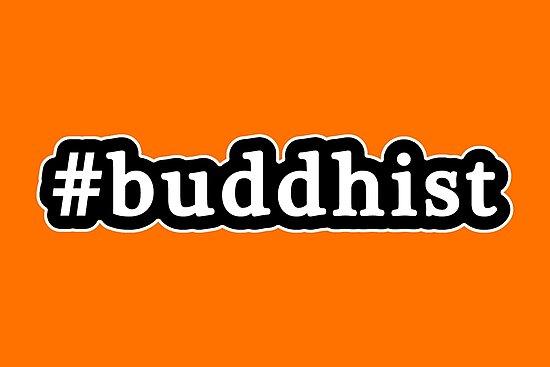 Buddhist - Hashtag - Black & White by graphix