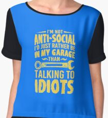 Talking to idiots Chiffon Top