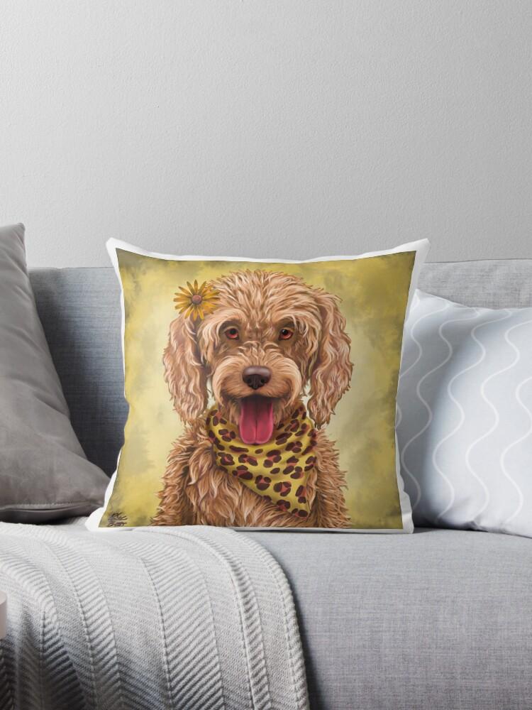 Pokey Puppy Throw Pillows By Annie Brett Redbubble