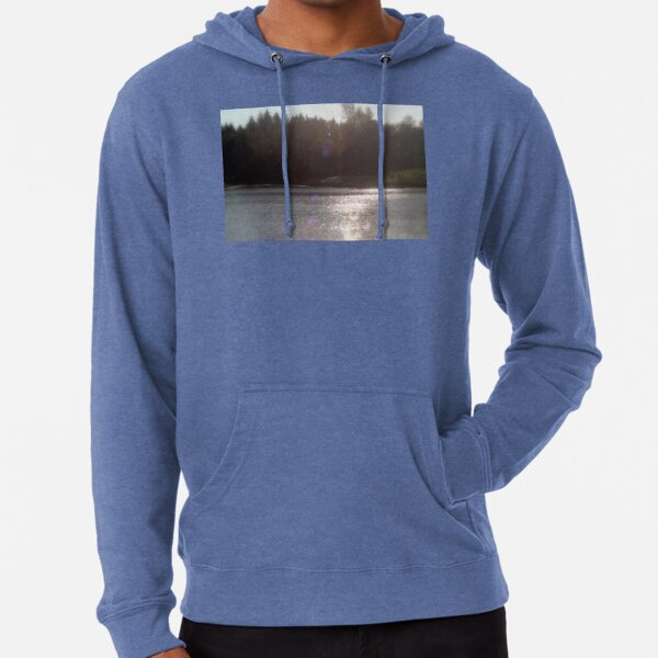 view across Trojan pond, near Goble, Oregon with flare Lightweight Hoodie