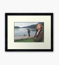 Mulder and Scully - The X-Files Framed Print
