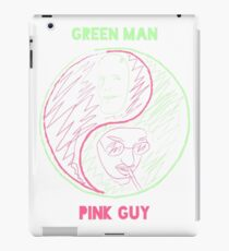 Pink Guy and Green Man iPad Case/Skin