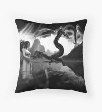 Serpant of the River Throw Pillow