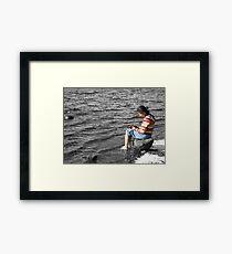 Lakeside Thinker Framed Print