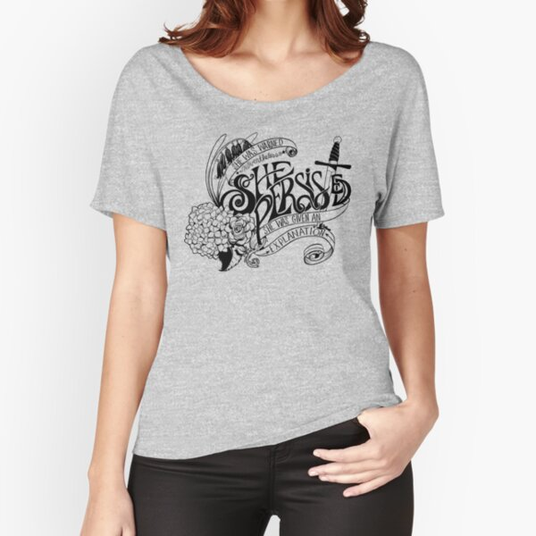 She Persisted - Black  Relaxed Fit T-Shirt