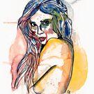 watercolour girl sideon by Ghost drop