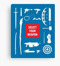 Sci-fi Weapons Canvas Print