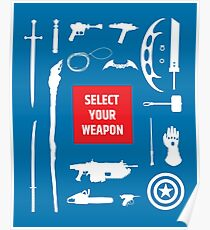 Sci-fi Weapons Poster