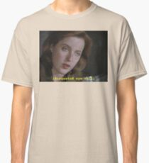 Dana Scully eye roll // x-files Classic T-Shirt