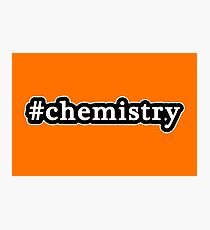 Chemistry - Hashtag - Black & White Photographic Print