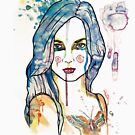 watercolour girl front by Ghost drop