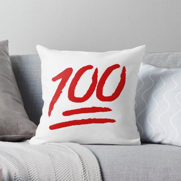 100% Throw Pillow