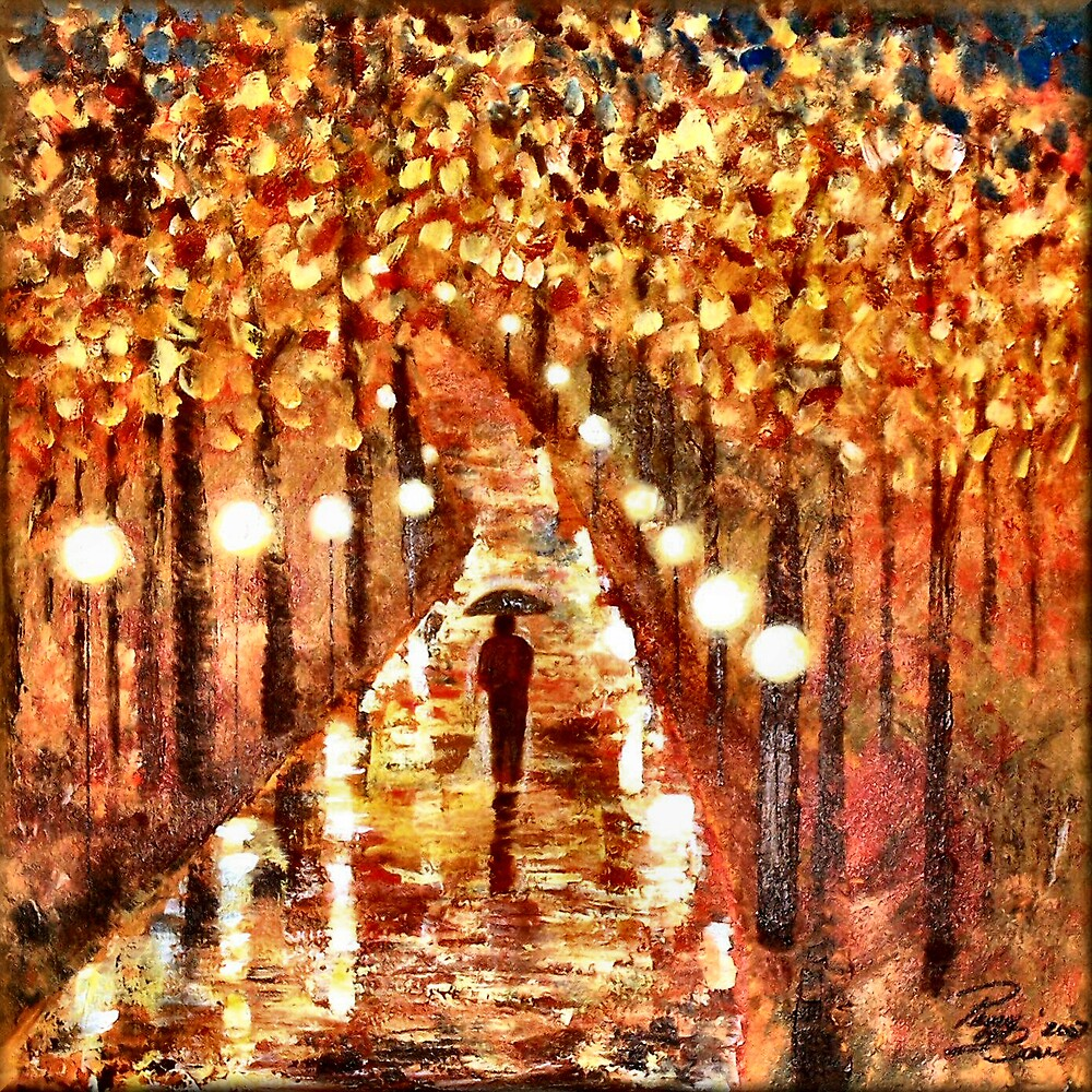 A Walk In The Rain by Peggy Garr