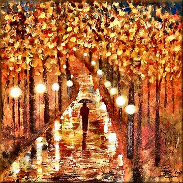 A Walk In The Rain by peggygarr