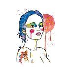 watercolour girl shorthair by Ghost drop