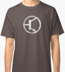 Whitte Transistor PNP NPN Electrical Component Classic T-Shirt