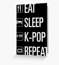 Kpop only Greeting Card