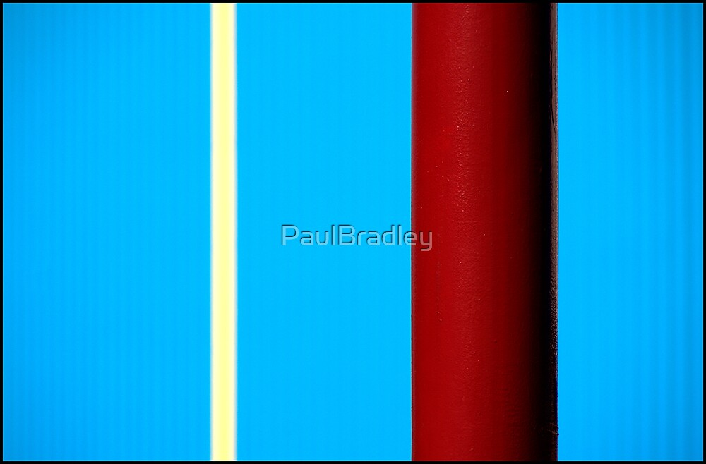 Stripes - On Blue by PaulBradley
